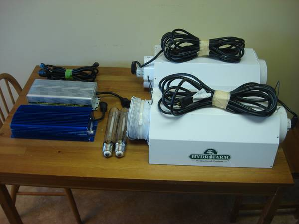 Lot of 2 600W Dimable Switchable Ballast w/ 2 Reflector Light Hoods